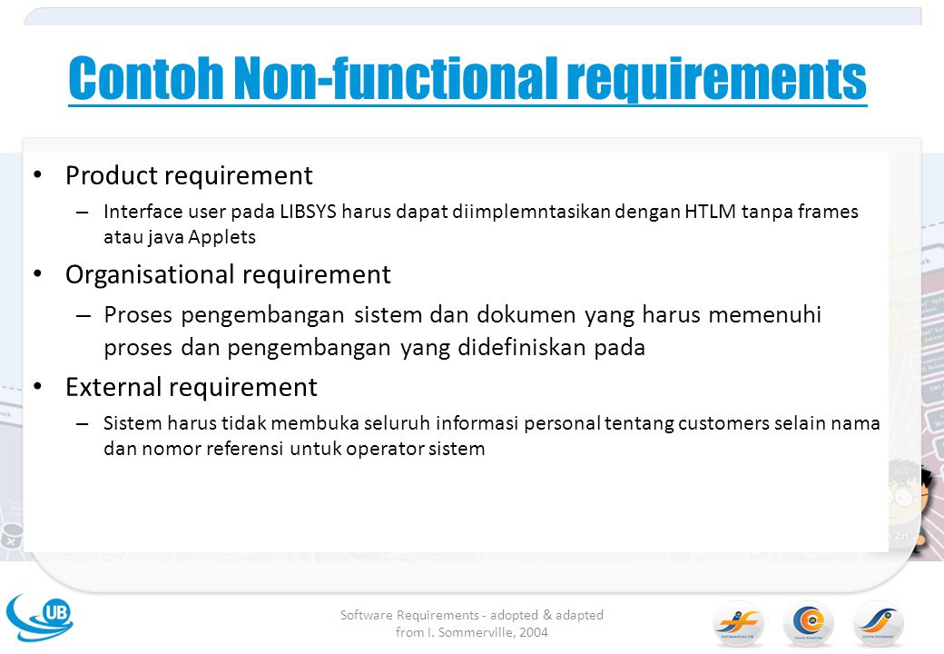 Contoh Non-functional requirements