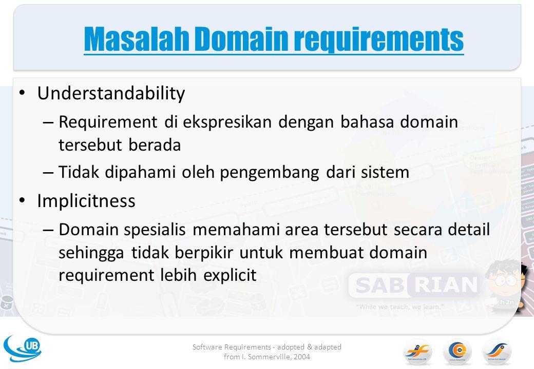 Masalah Domain requirements