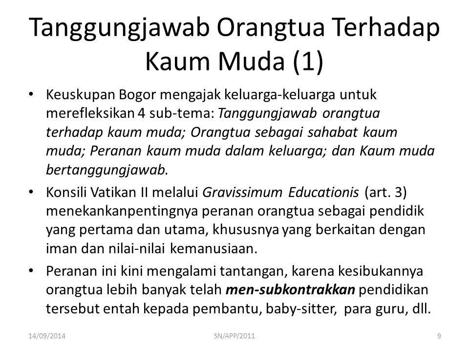 Tanggungjawab Orangtua Terhadap Kaum Muda (1)