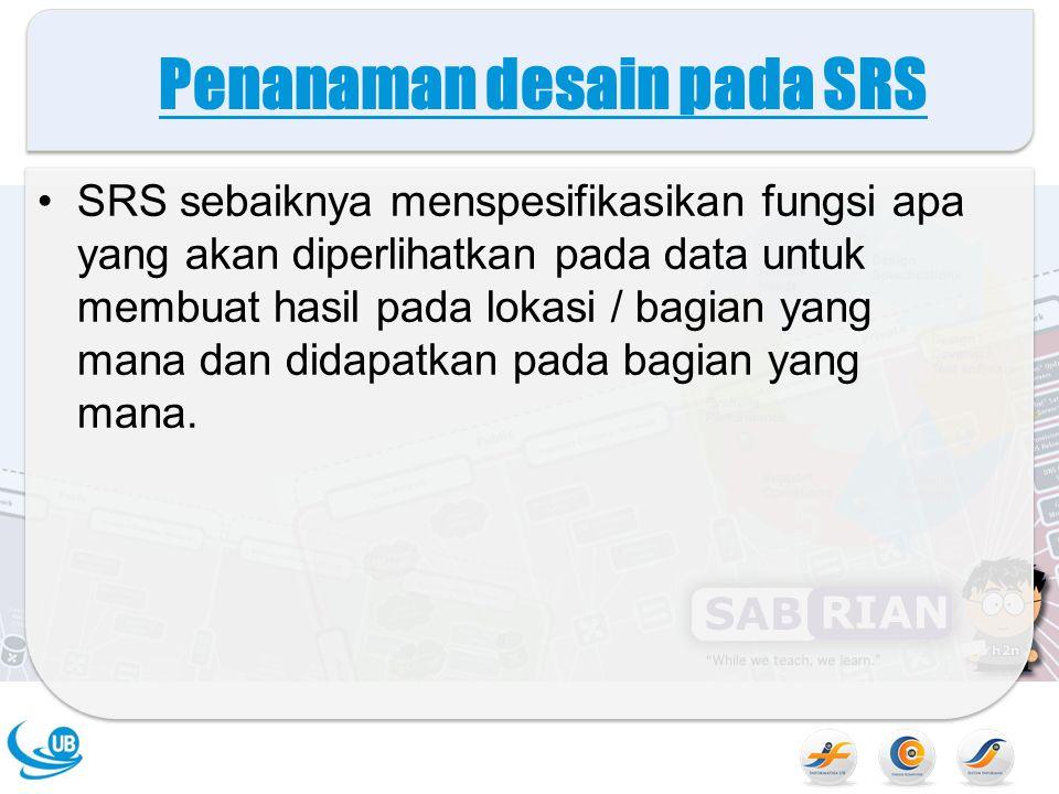 Penanaman desain pada SRS