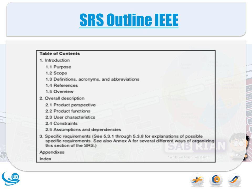 SRS Outline IEEE