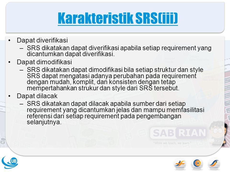 Karakteristik SRS(iii)