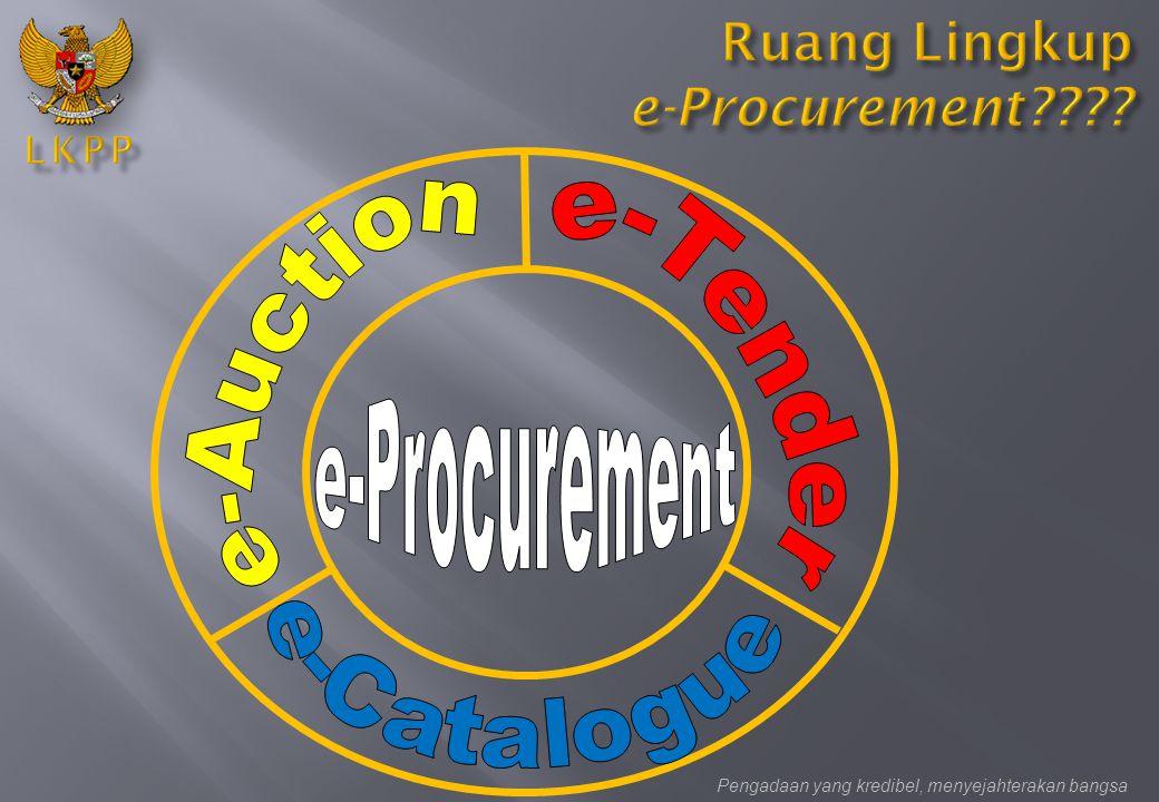Ruang Lingkup e-Procurement