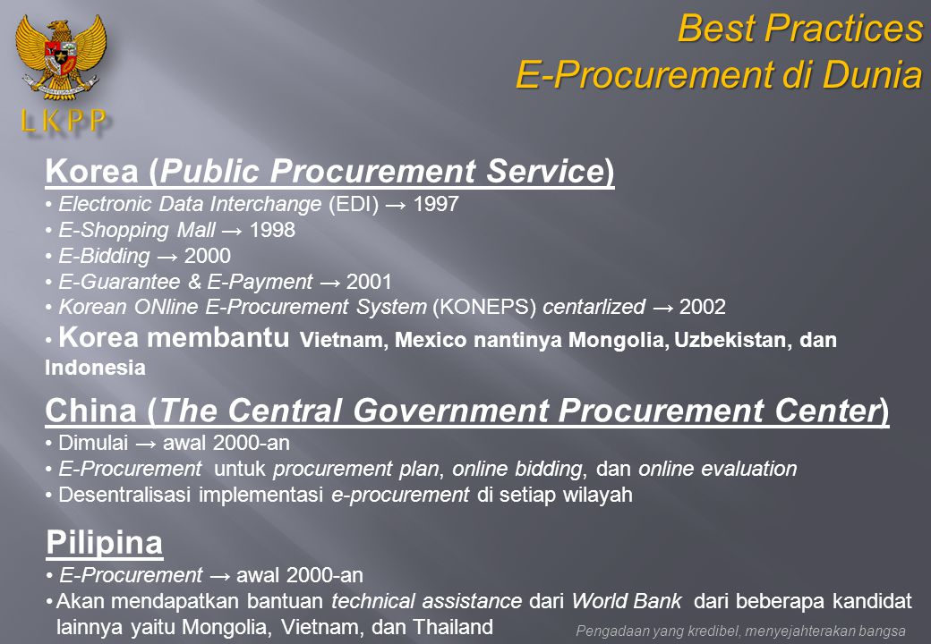 E-Procurement di Dunia