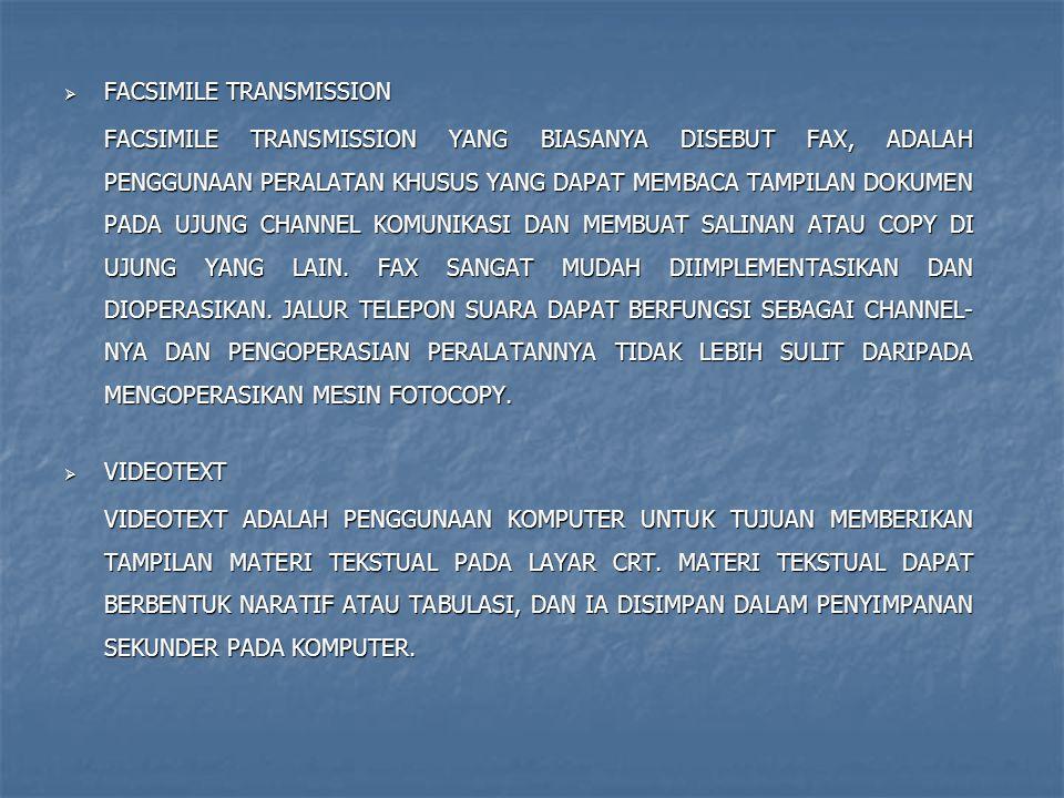 FACSIMILE TRANSMISSION