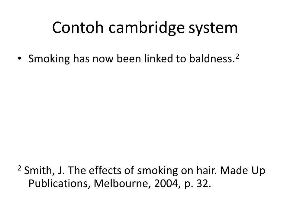 Contoh cambridge system