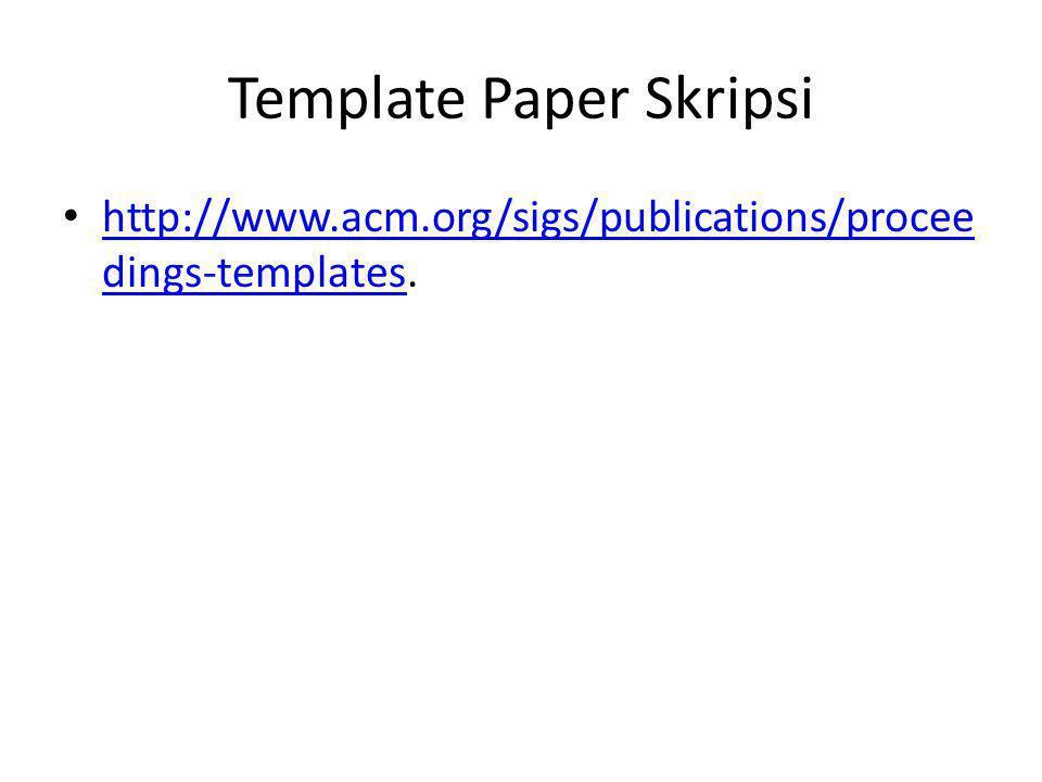 Template Paper Skripsi