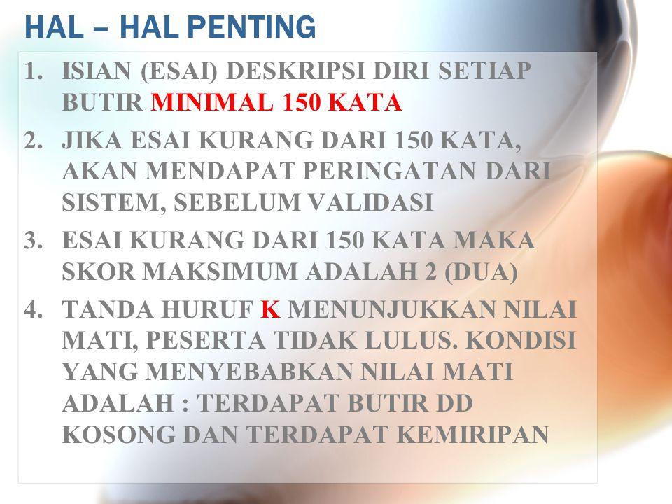 HAL – HAL PENTING