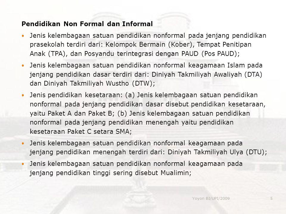 Pendidikan Non Formal dan Informal
