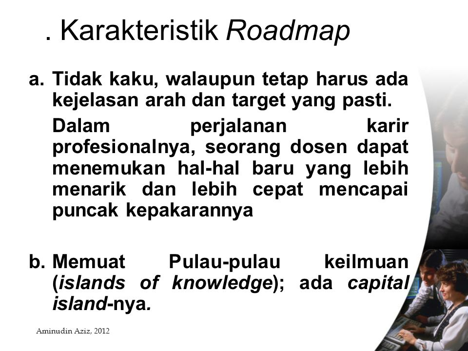 2. Karakteristik Roadmap