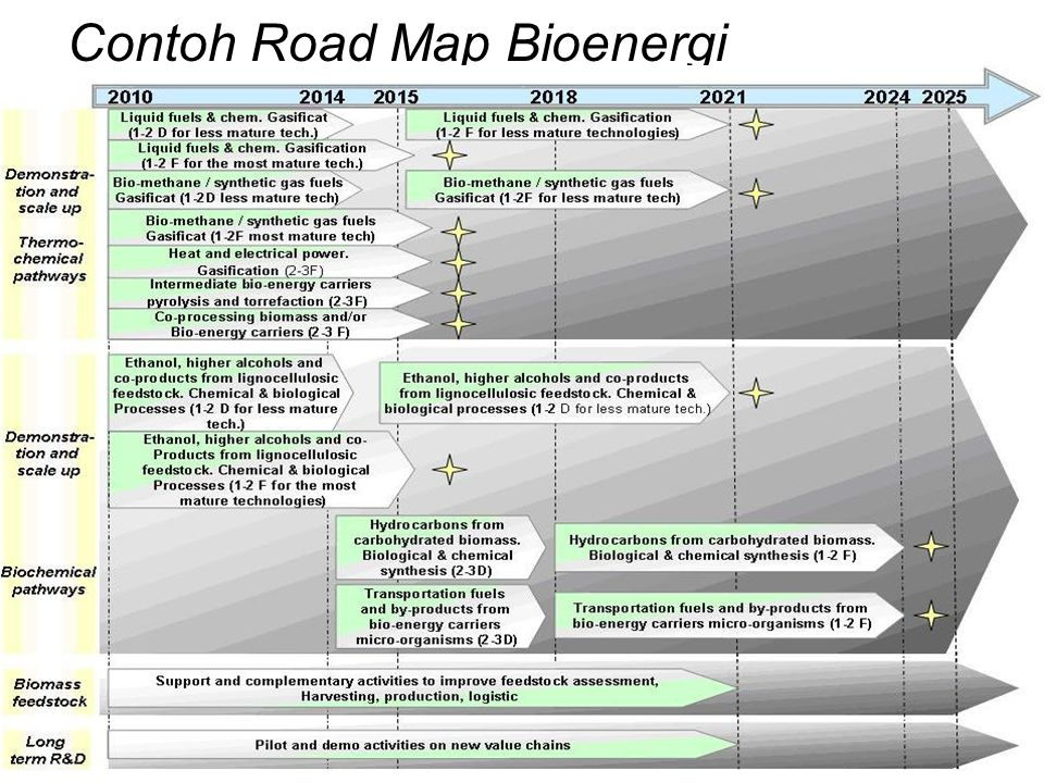Contoh Road Map Bioenergi