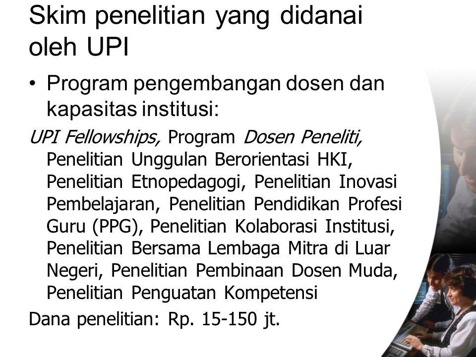 Skim penelitian yang didanai oleh UPI