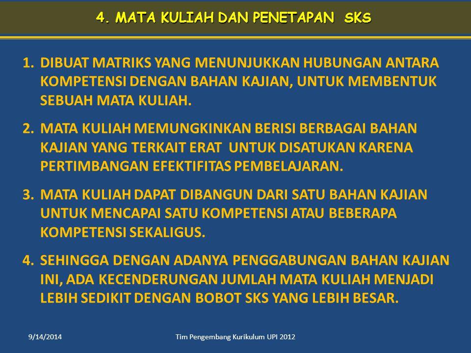 4. MATA KULIAH DAN PENETAPAN SKS