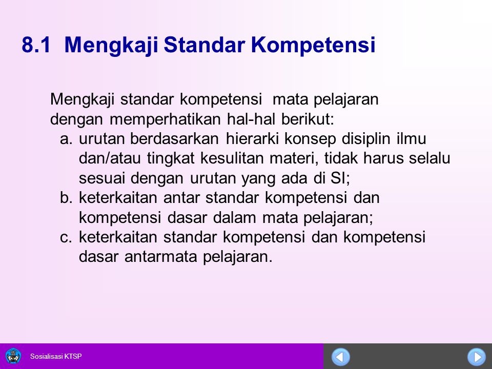 8.1 Mengkaji Standar Kompetensi