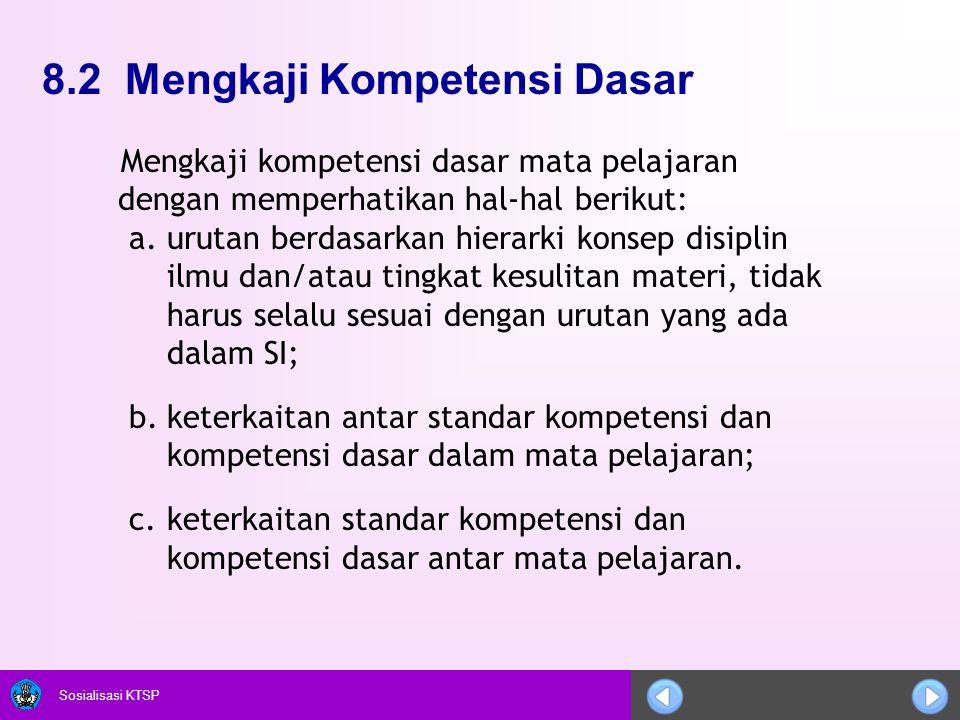 8.2 Mengkaji Kompetensi Dasar