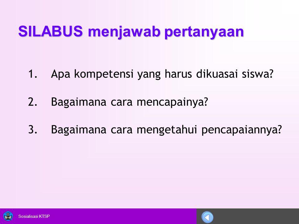 SILABUS menjawab pertanyaan