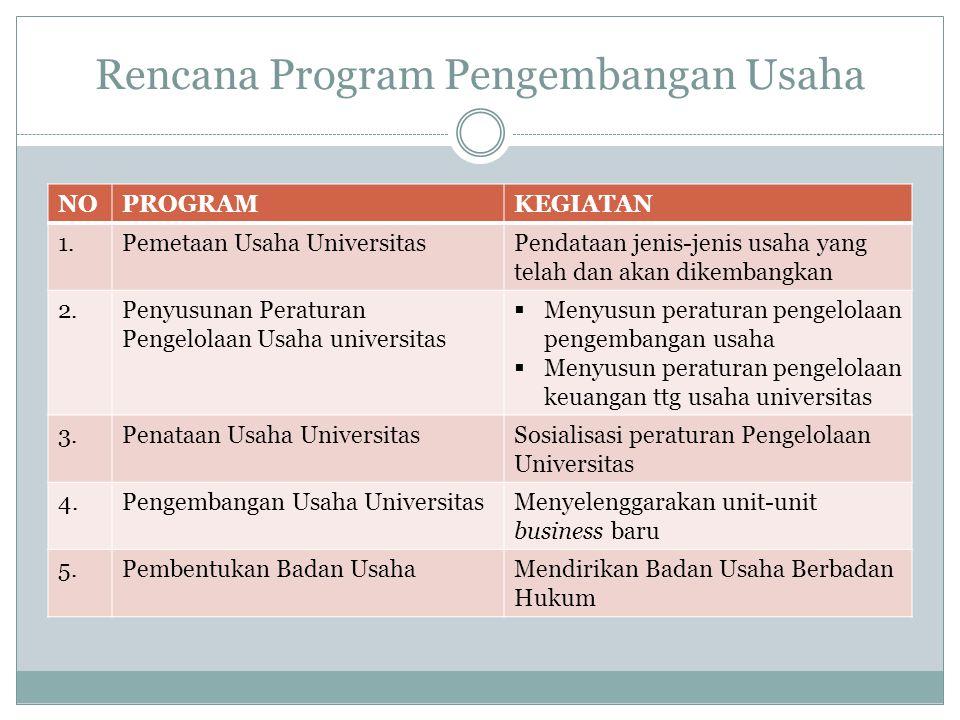 Rencana Program Pengembangan Usaha