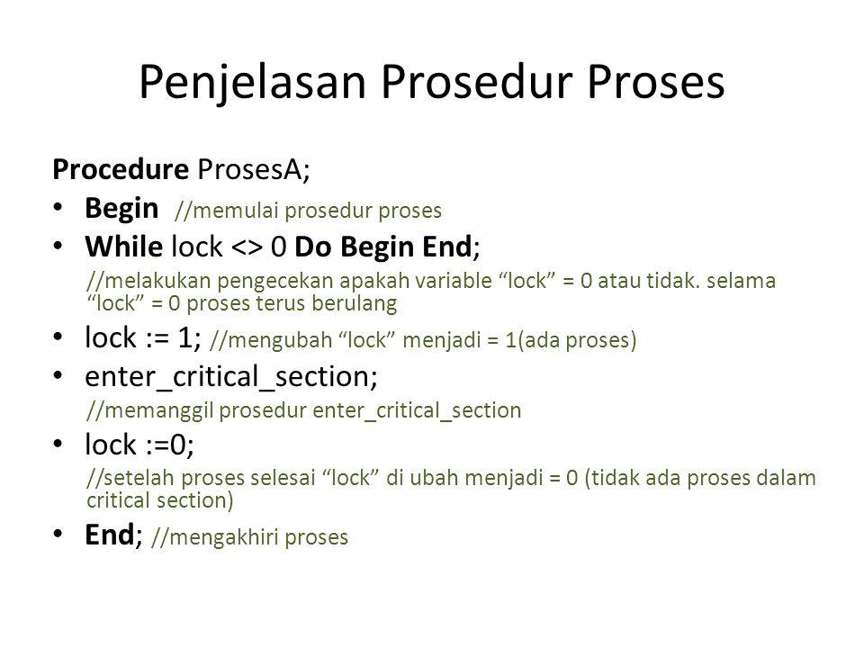 Penjelasan Prosedur Proses