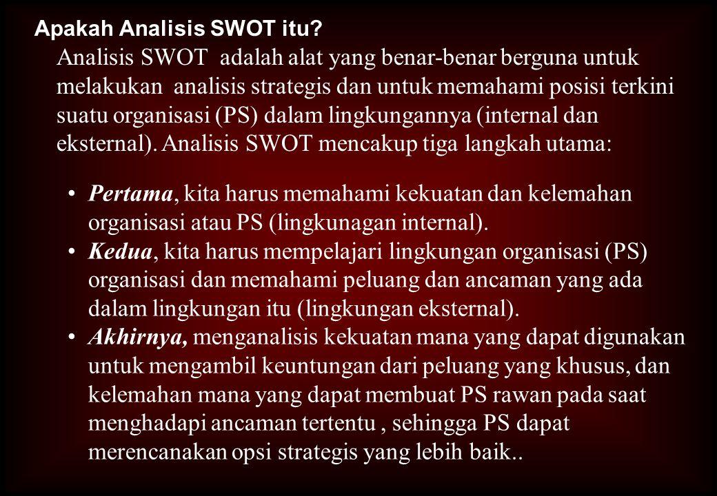 Apakah Analisis SWOT itu
