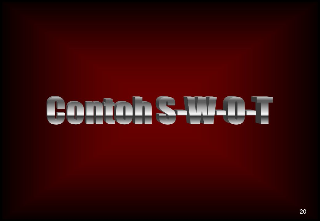 Contoh S-W-O-T
