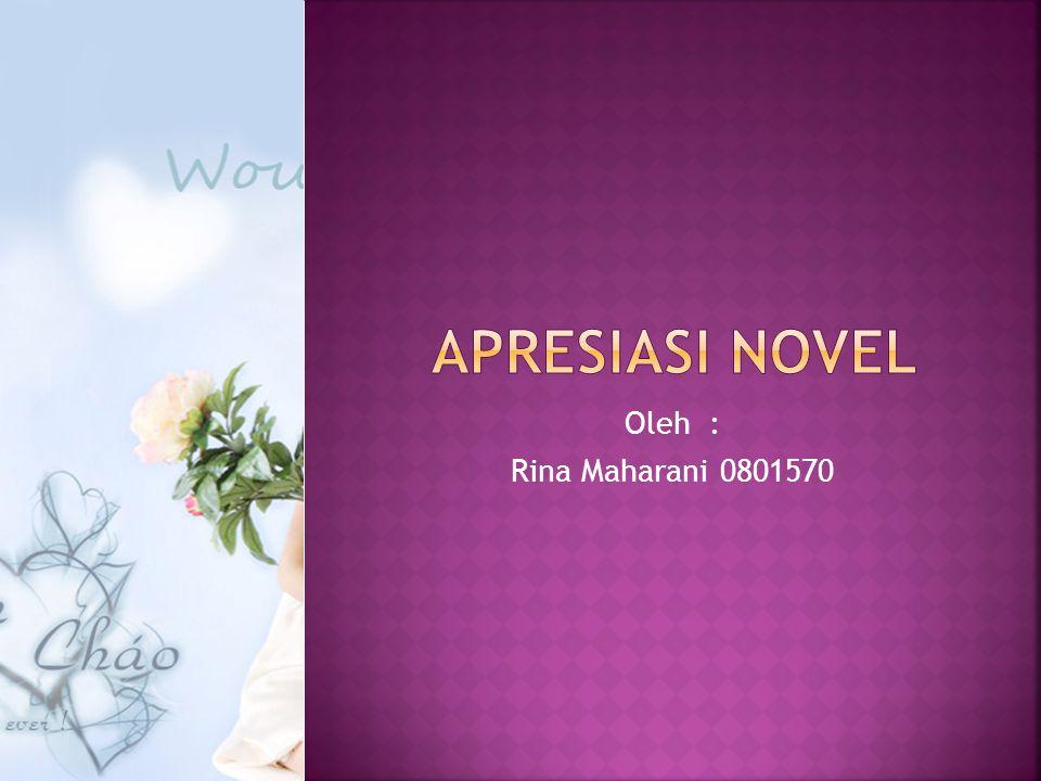 Apresiasi novel Oleh : Rina Maharani 0801570