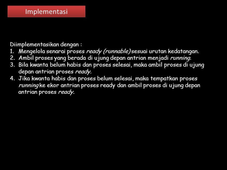 Implementasi Diimplementasikan dengan :