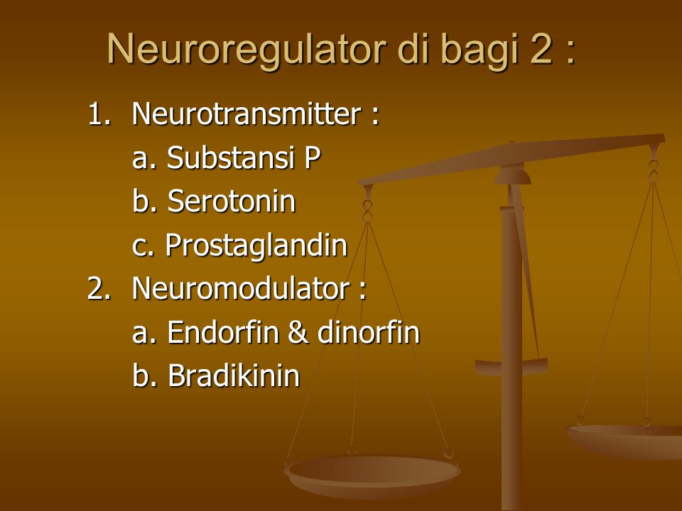 Neuroregulator di bagi 2 :