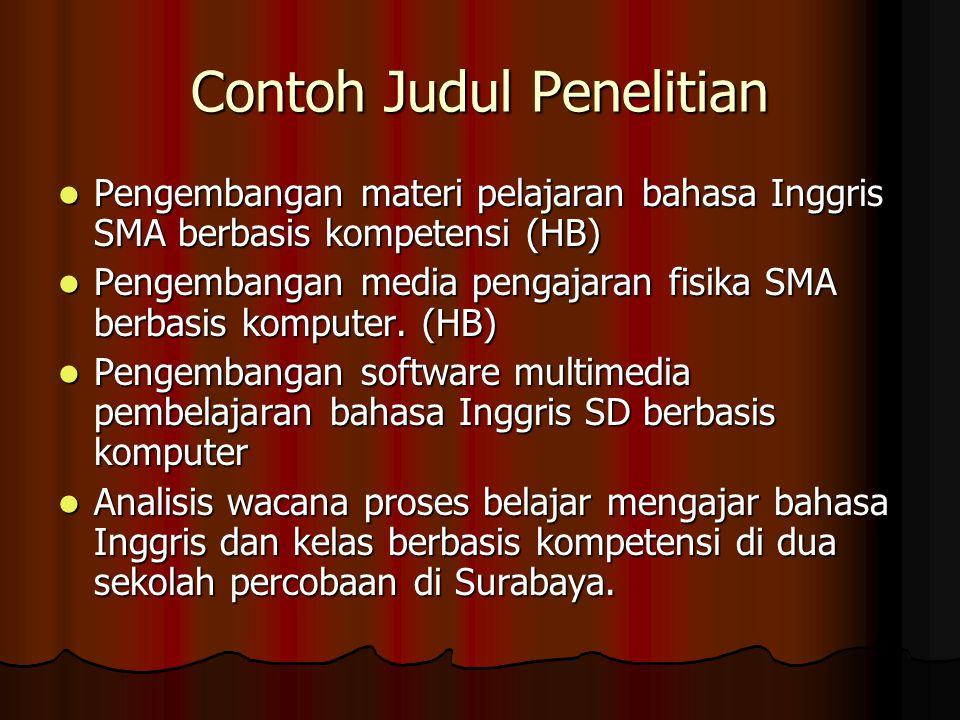 Contoh Judul Penelitian