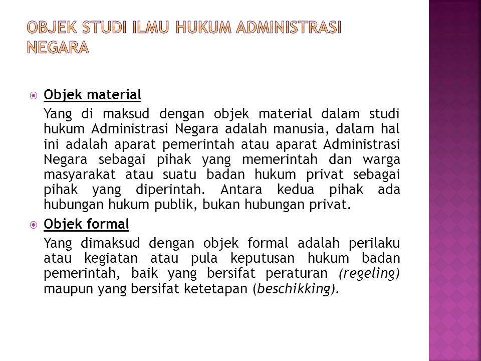 Objek studi ilmu hukum administrasi negara