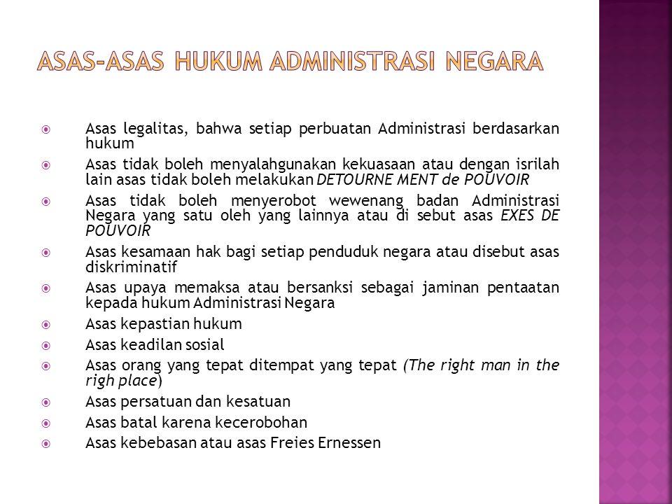 Asas-Asas Hukum Administrasi Negara