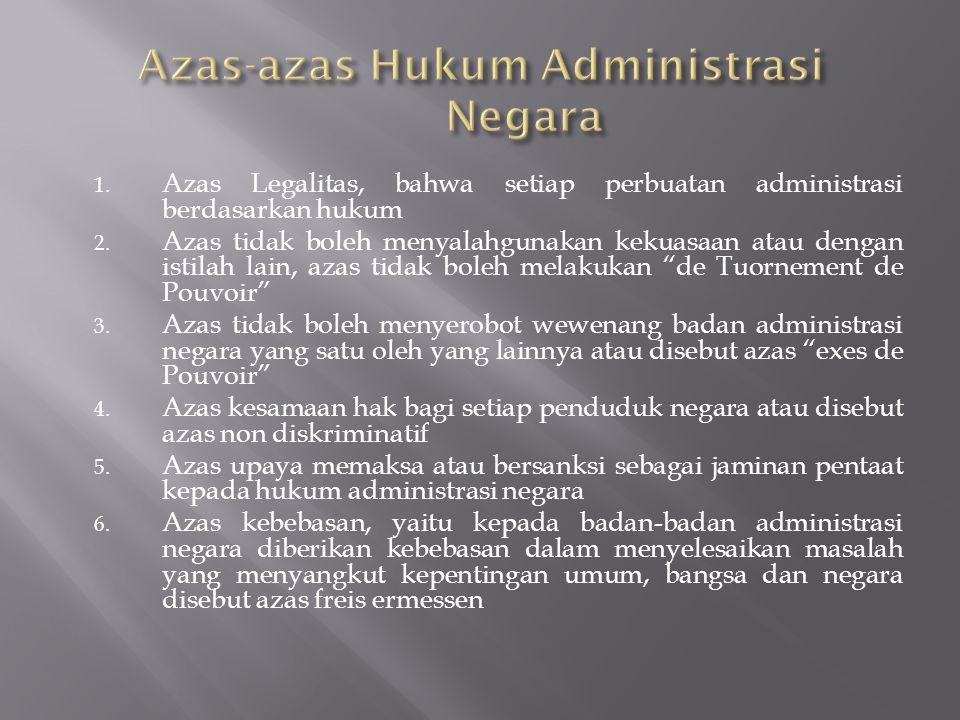 Azas-azas Hukum Administrasi Negara