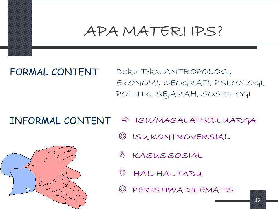 APA MATERI IPS FORMAL CONTENT