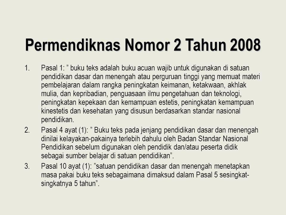 Permendiknas Nomor 2 Tahun 2008