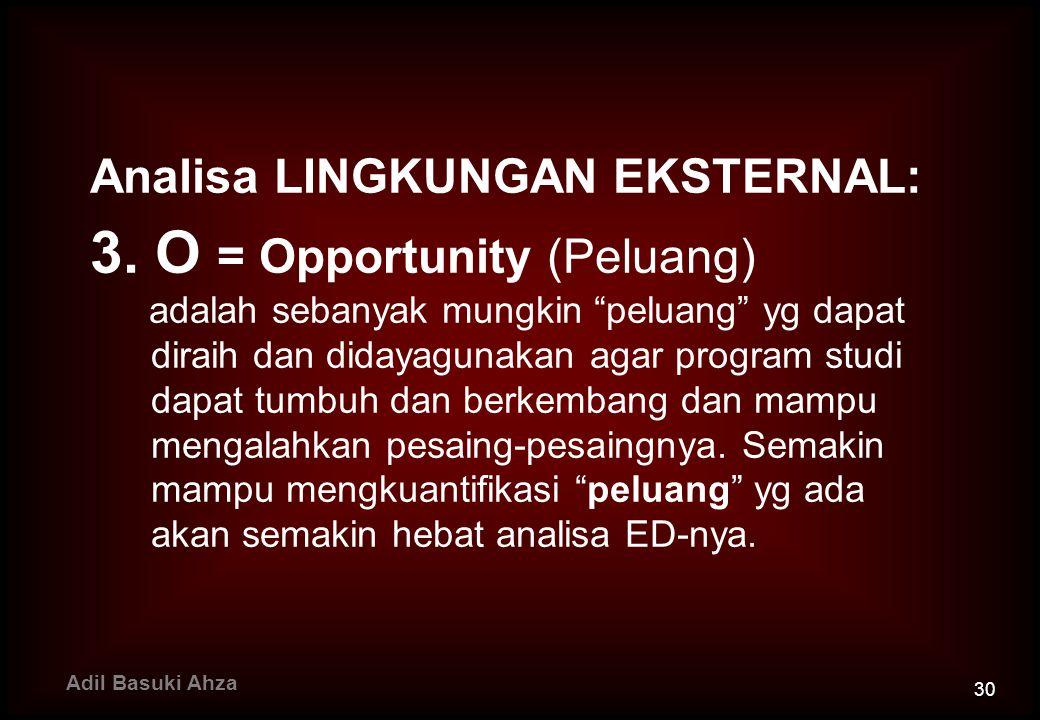 3. O = Opportunity (Peluang)