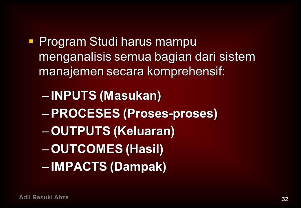 PROCESES (Proses-proses) OUTPUTS (Keluaran) OUTCOMES (Hasil)
