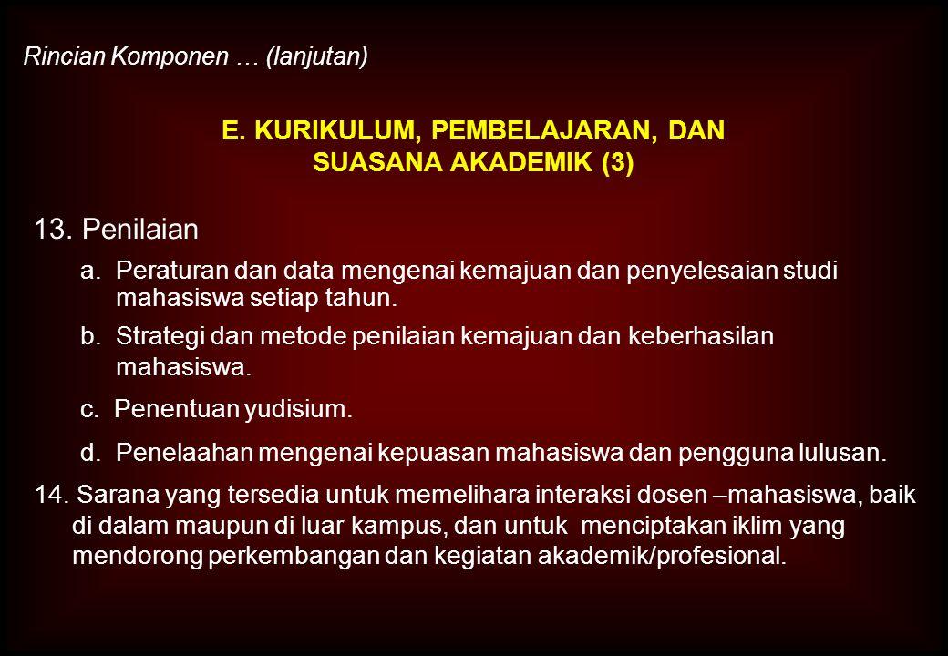 E. KURIKULUM, PEMBELAJARAN, DAN SUASANA AKADEMIK (3)
