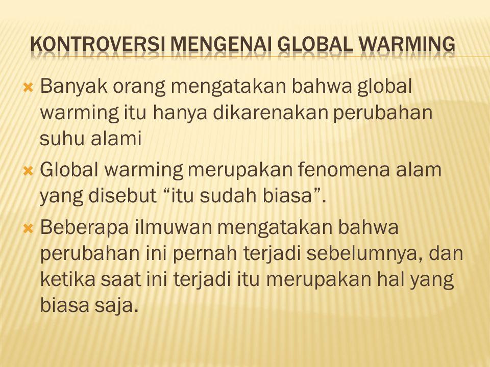 Kontroversi mengenai global warming