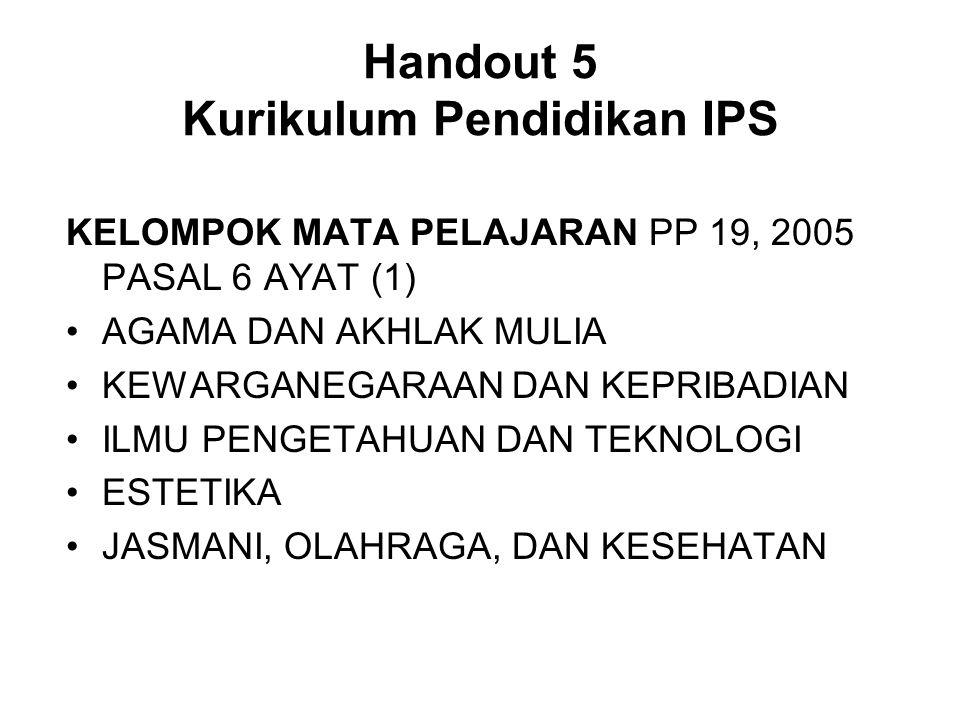 Handout 5 Kurikulum Pendidikan IPS