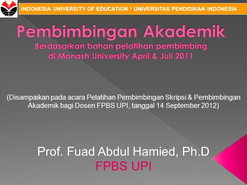 Prof. Fuad Abdul Hamied, Ph.D