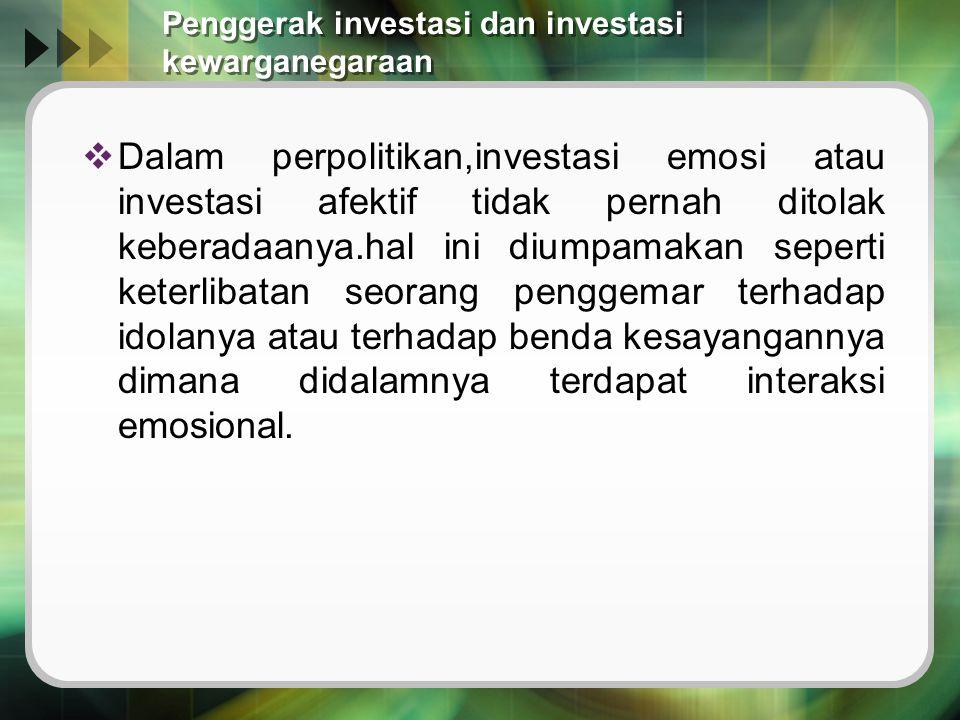 Penggerak investasi dan investasi kewarganegaraan