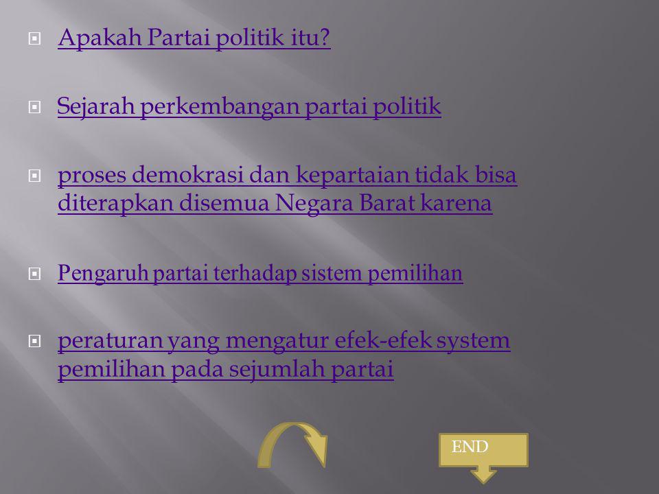 Apakah Partai politik itu Sejarah perkembangan partai politik