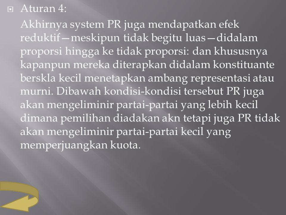 Aturan 4: