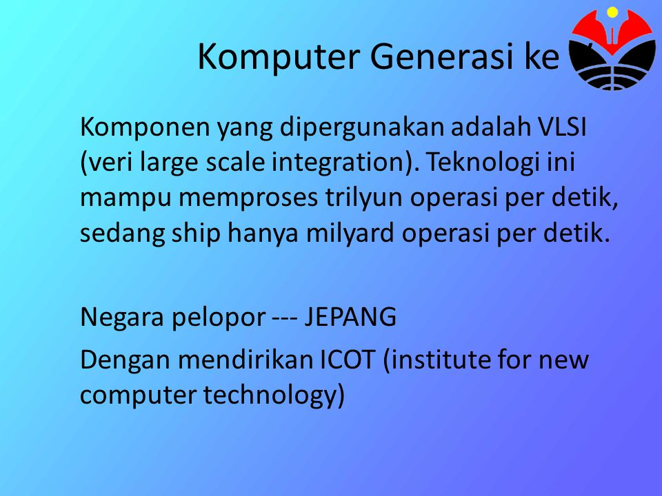 Komputer Generasi ke V