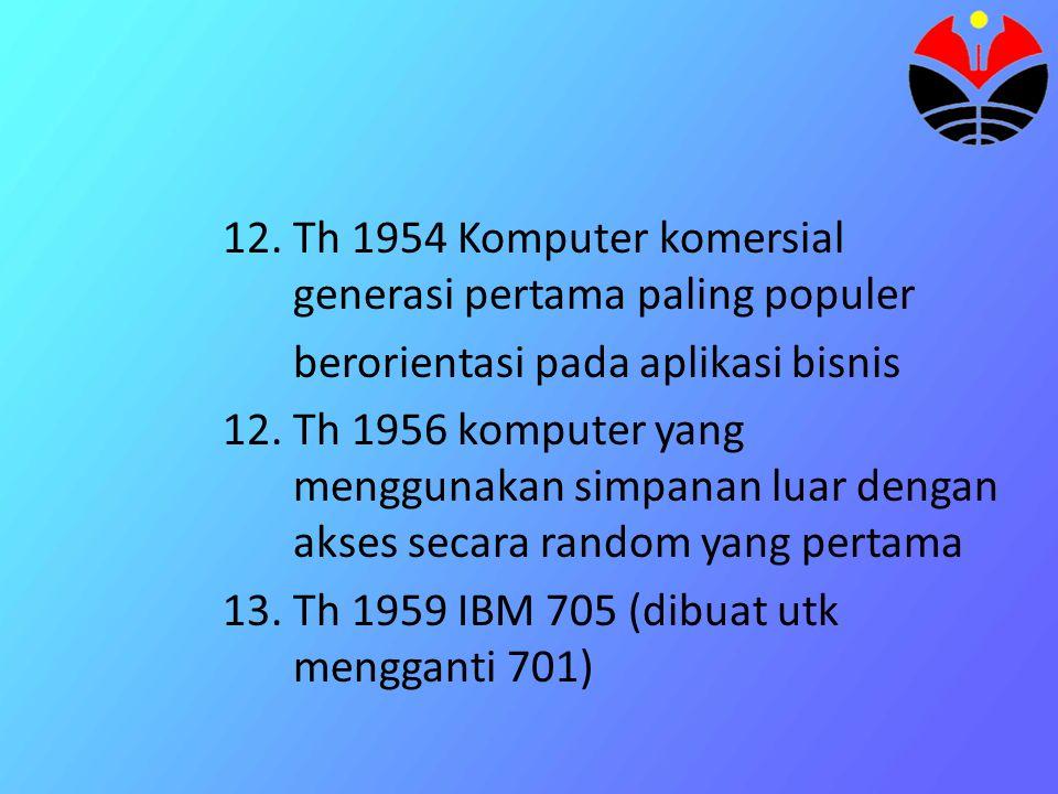 Th 1954 Komputer komersial generasi pertama paling populer