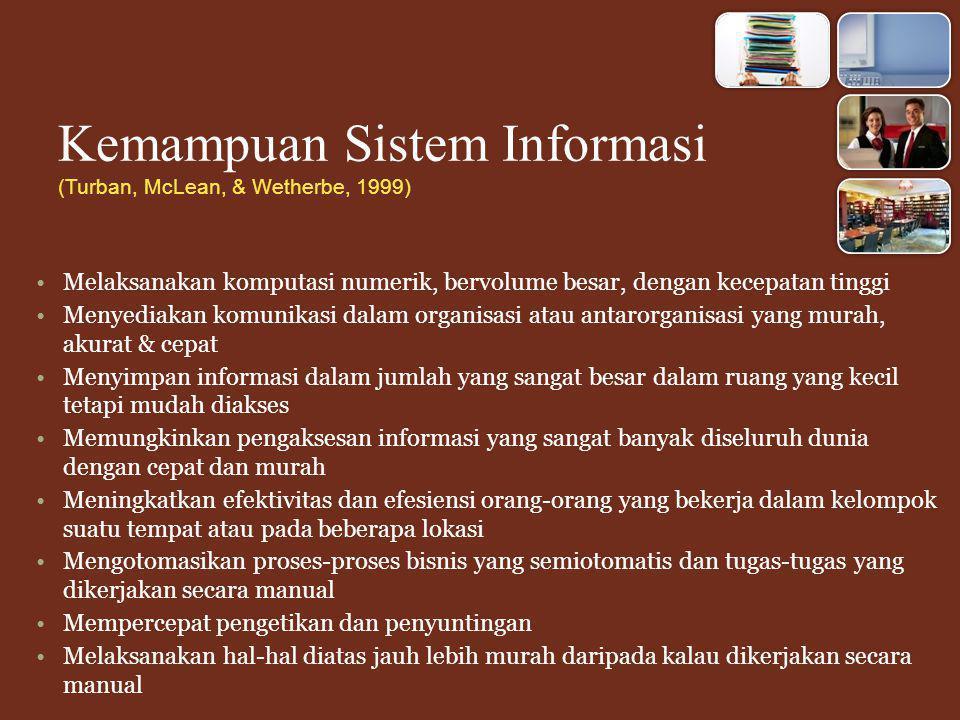 Kemampuan Sistem Informasi (Turban, McLean, & Wetherbe, 1999)