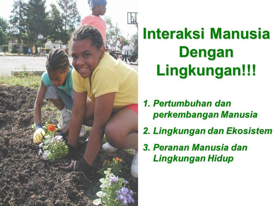Interaksi Manusia Dengan Lingkungan!!!