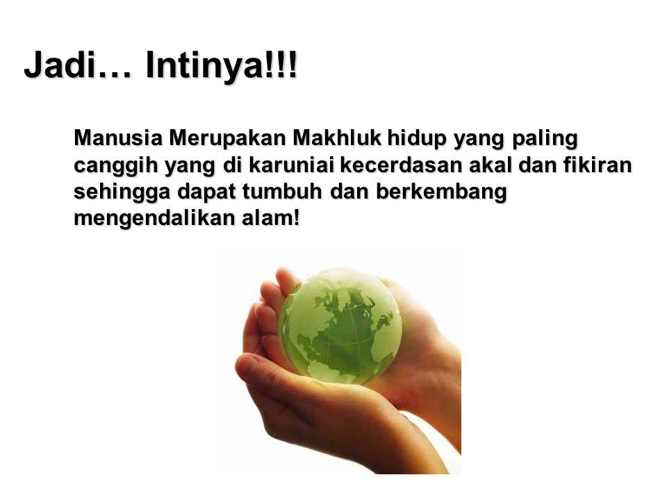 Jadi… Intinya!!!