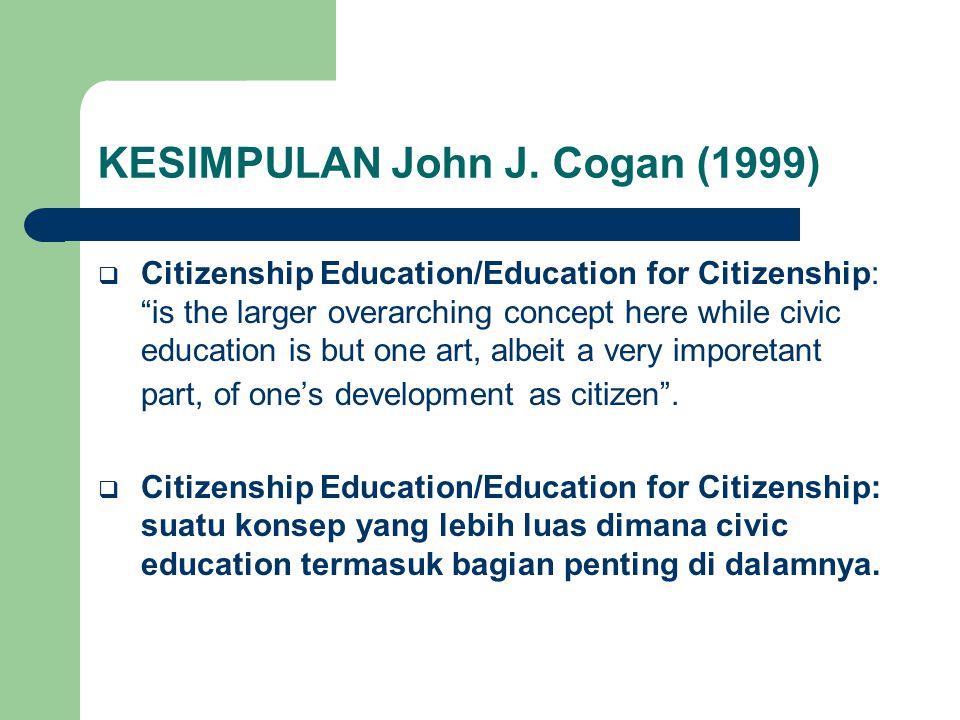 KESIMPULAN John J. Cogan (1999)