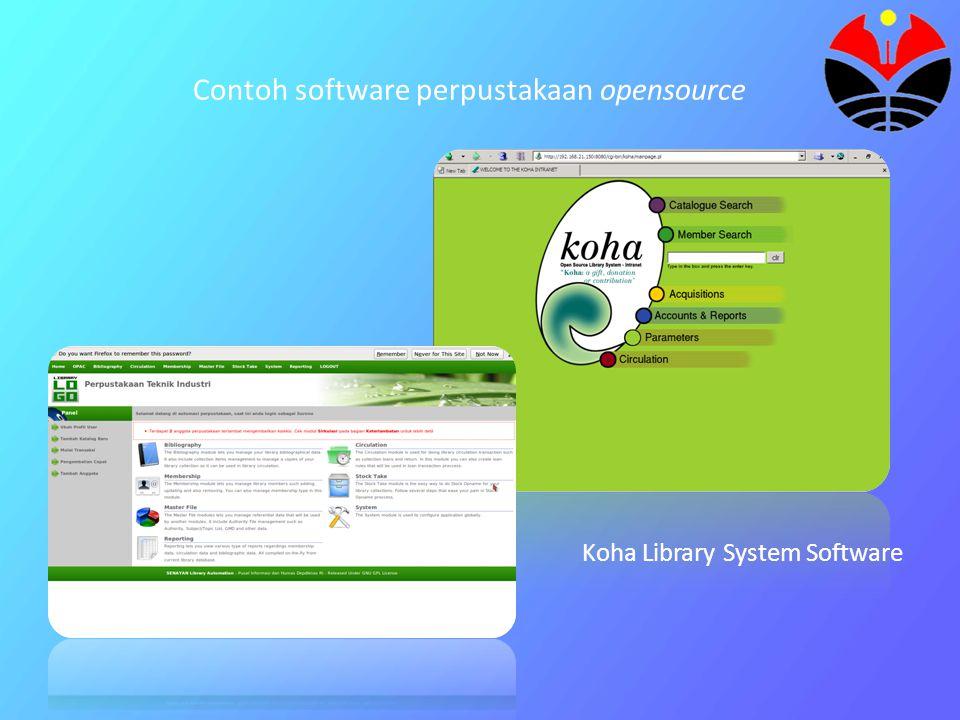 Contoh software perpustakaan opensource