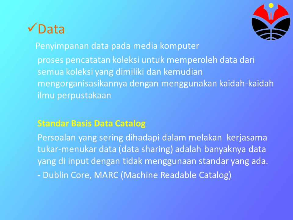 Data Penyimpanan data pada media komputer